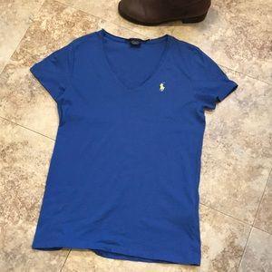 Ralph Lauren size M short sleeved, blue tee